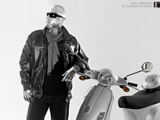 Banco Occidental De Descuento Print Ad -  Plastic, Motorcycle
