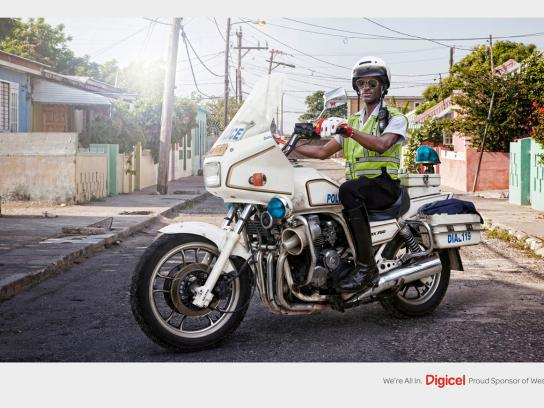 Digicel Print Ad -  Motorbike