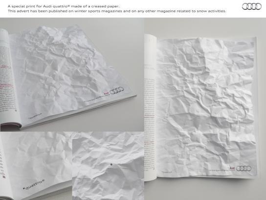 Audi Print Ad -  Mountain range