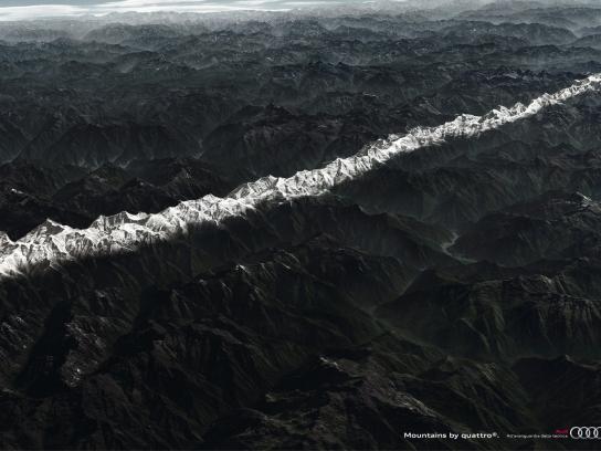 Audi Print Ad -  Mountains