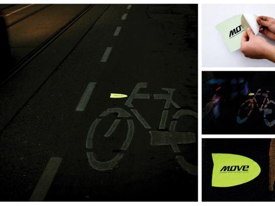 Move bikelightning Ambient Ad -  Guerilla sticker