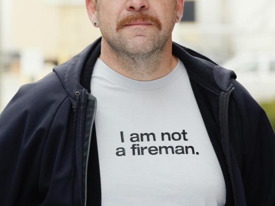 Movember Print Ad -  Fireman
