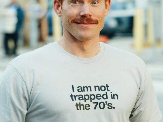 Movember Print Ad -  70's