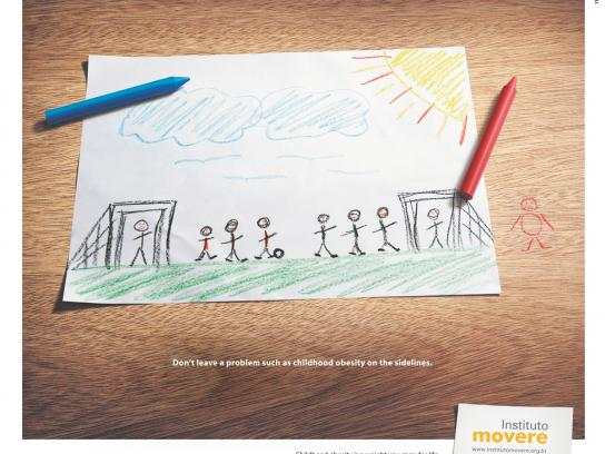 Movere Institute Print Ad -  Drawing, 1