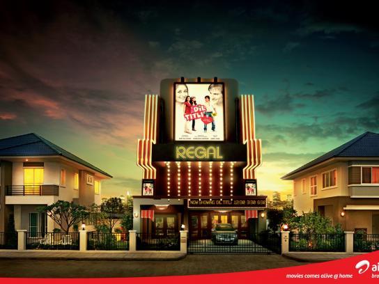 Airtel Print Ad -  Movies