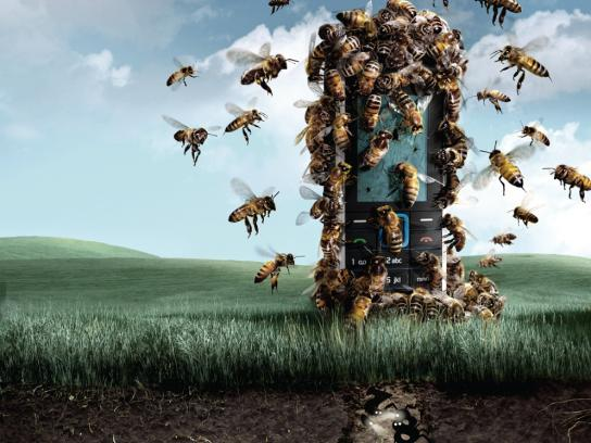 Movistar Print Ad -  Bees
