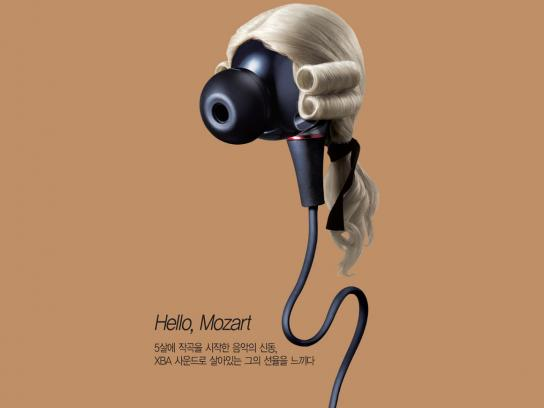 Sony Print Ad -  Wolfgang Amadeus Mozart