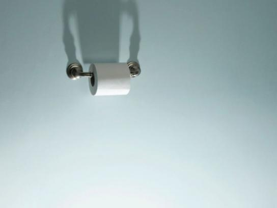 Mr. Clean Print Ad -  Shining floor, Toilet paper