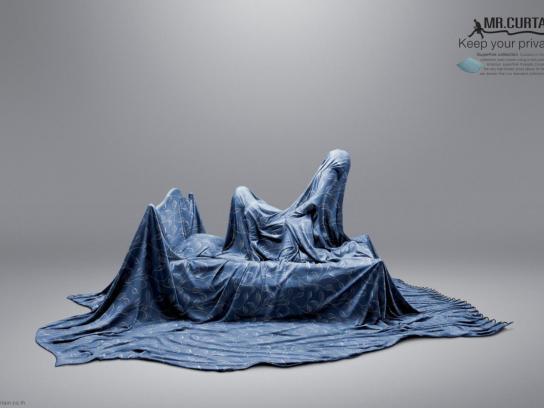 Mr. Curtain Print Ad -  Bedroom