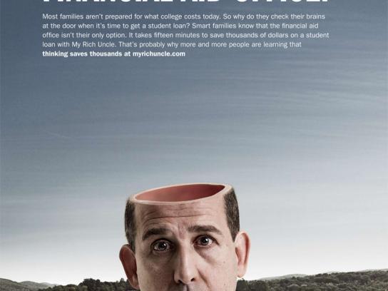 MyRichUncle Print Ad -  Straight