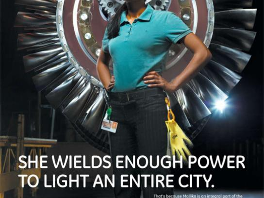 GE Print Ad -  Light a city