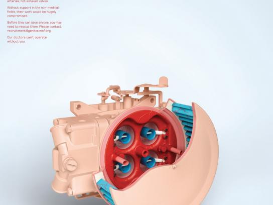 Medecins Sans Frontieres Print Ad -  Carburetor