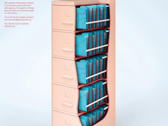 Medecins Sans Frontieres Print Ad -  Filing Cabinet
