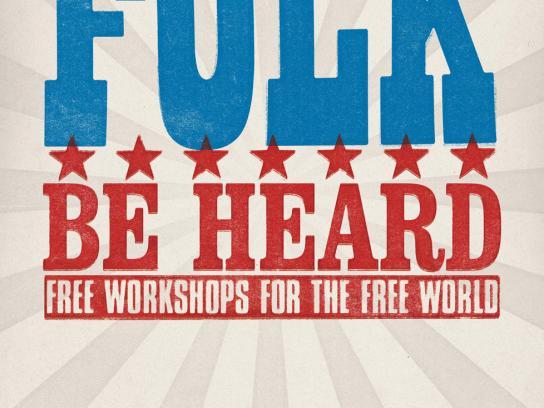 Kent State Folk Festival Outdoor Ad -  Vote Folk, 2