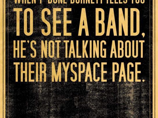 WKSUFolk Festival Print Ad -  MySpace