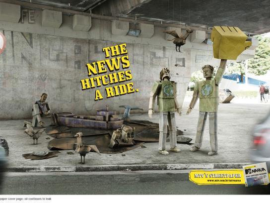 MTV Print Ad -  Oil spill