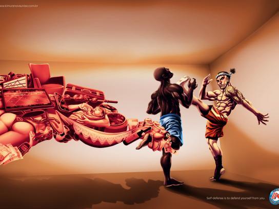 Kimura Gym Print Ad -  Self-defense, Muay