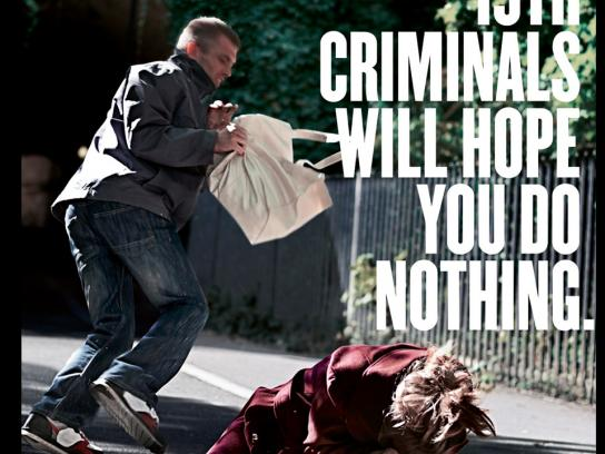 Police & Crime Commissioner Print Ad -  Mugging