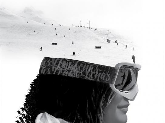 Las Leñas ski resort Print Ad -  Dreams, Woman