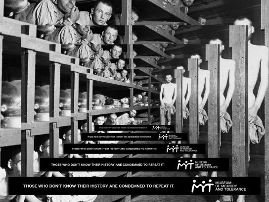 Museum Of Memory & Tolerance Print Ad -  Auschwitz