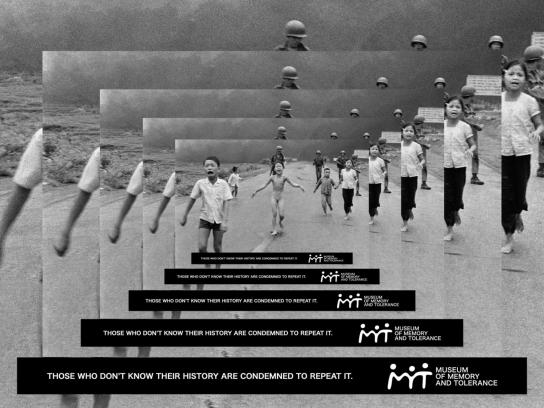 Museum Of Memory & Tolerance Print Ad -  Napalm Girl
