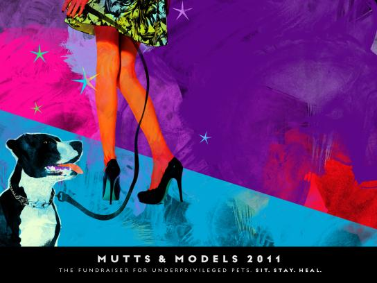 Mutts & Models Print Ad -  Legs