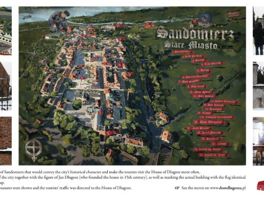 House of Dlugosz Outdoor Ad -  Map