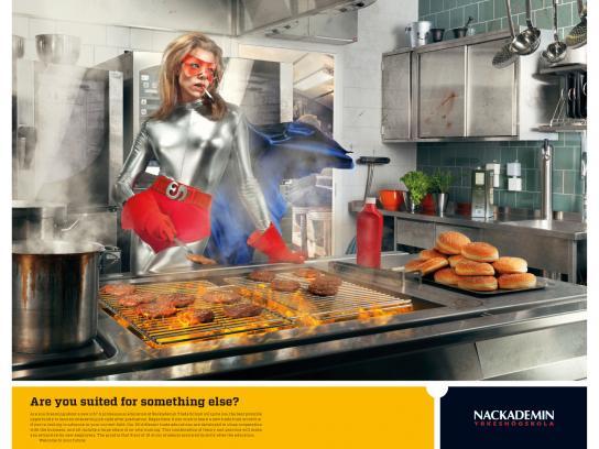Nackademin Print Ad -  Fast food