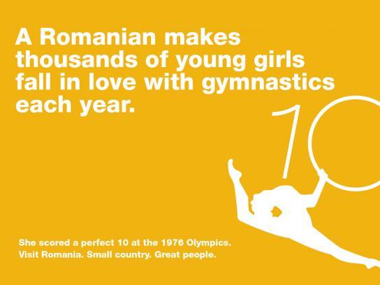 Romania Print Ad -  Nadia Comaneci