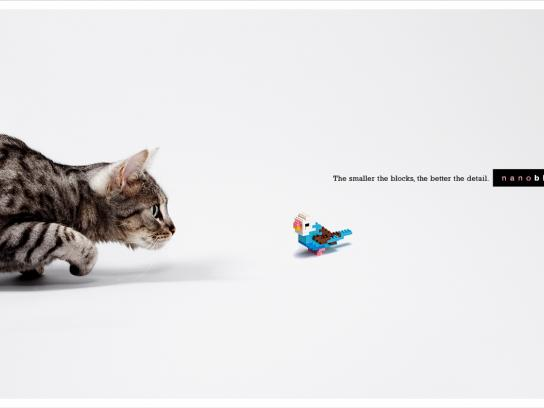 Nanoblock Print Ad -  Cat