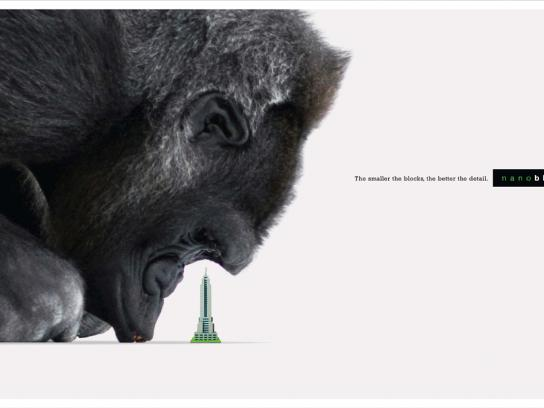Nanoblock Print Ad -  Gorilla