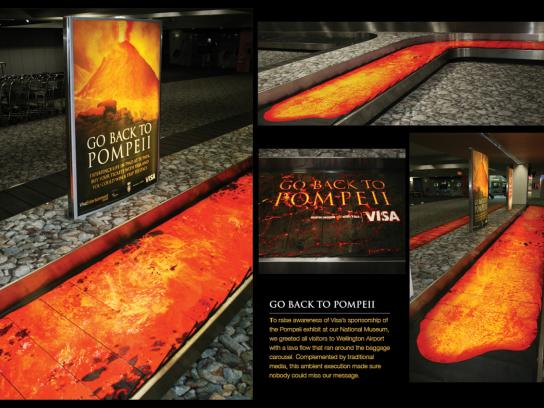 Visa Ambient Ad -  Go back to Pompeii