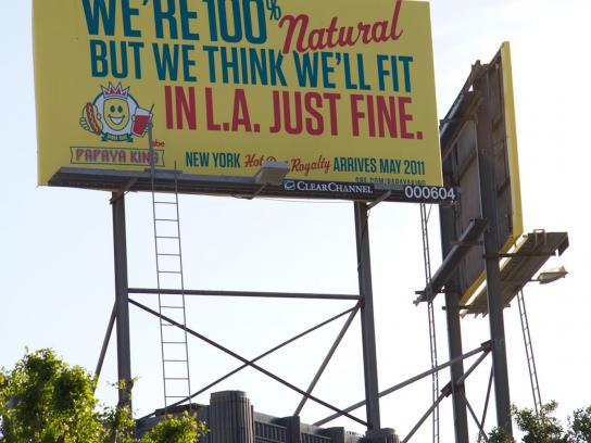 Papaya King Outdoor Ad -  Natural