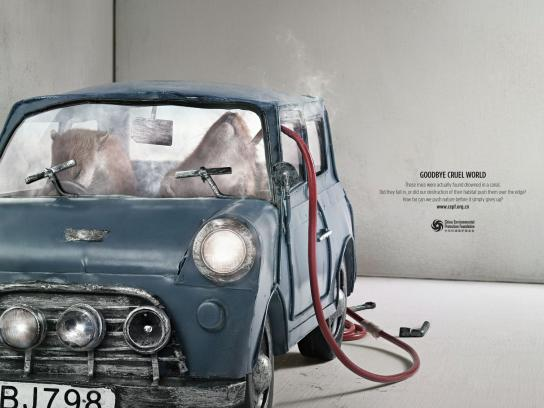 China Environmental Protection Foundation Print Ad -  Mice