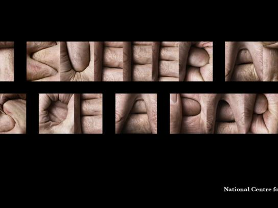 The National Centre for Domestic Violence Print Ad -  Hands