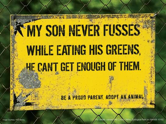 Nehru Zoological Park Print Ad -  Greens