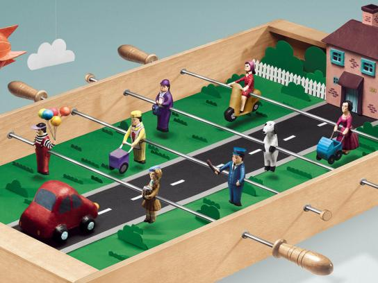 Goodyear Outdoor Ad -  Foosball Table, Neighbourhood