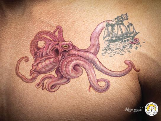 Neko Tattoo & Art Studio Print Ad -  Octopus