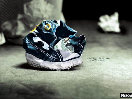 Nescafe Print Ad -  Shoes
