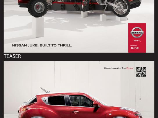 Nissan Outdoor Ad -  Built to thrill