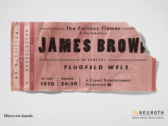 Neuroth Print Ad -  Concert Tickets, James Brown