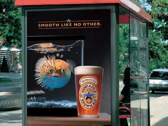 Newcastle Brown Ale Print Ad -  Blowfish