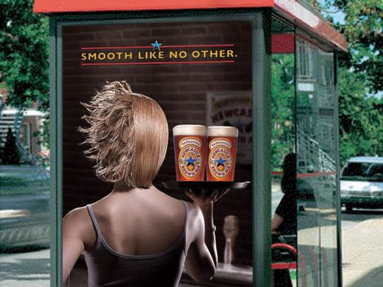 Newcastle Brown Ale Print Ad -  Waitress