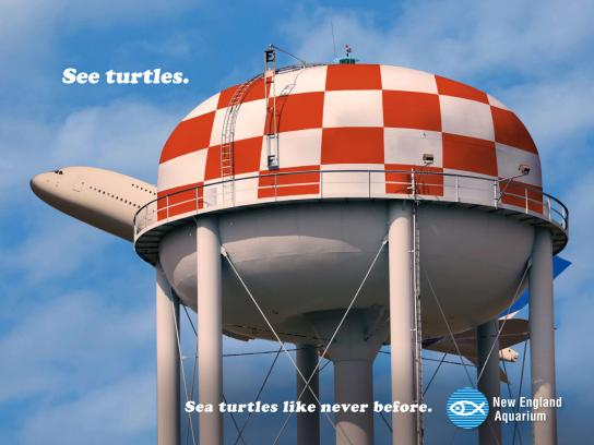 New England Aquarium Print Ad -  Water tower