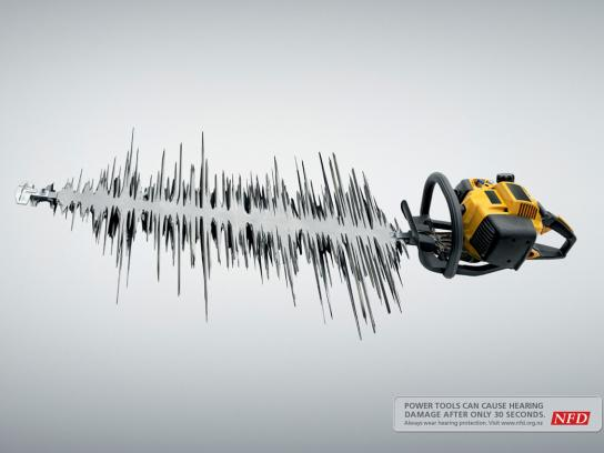 NFD Print Ad -  Hedge trimmer