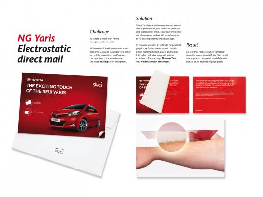 Toyota Direct Ad -  Electrostatic direct mail