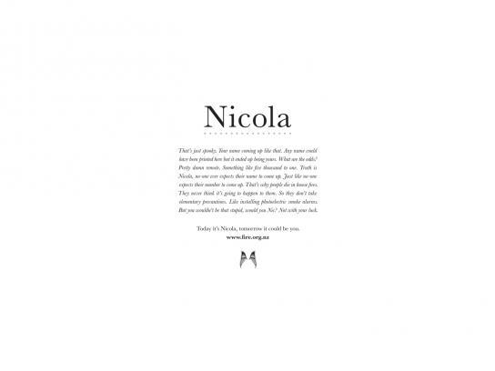 Smoke Alarms Print Ad -  Nicola