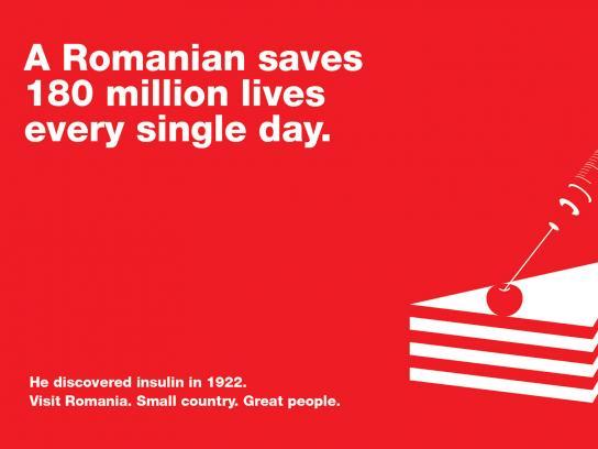 Romania Print Ad -  Nicolae Paulescu