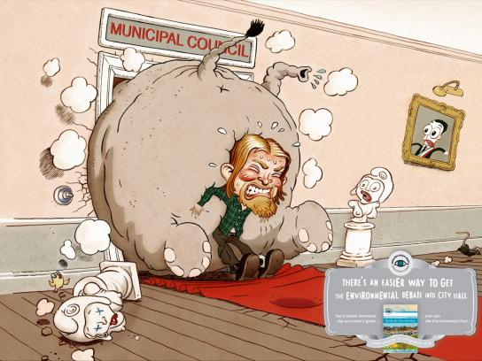 Nicolas Hulot Foundation Print Ad -  Elephant