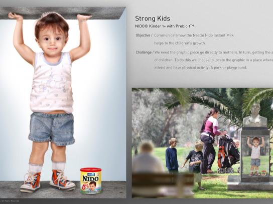 Nestle Ambient Ad - Strong Kids